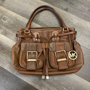 Michaels kors cognac leather 3 compartment bag